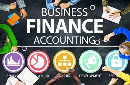 contabilidad: Negocios Contabilidad Análisis Financiero concepto de gestión Foto de archivo