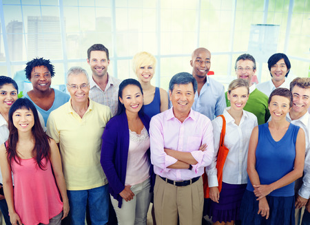 group: Group of Business People in the Office Stock Photo