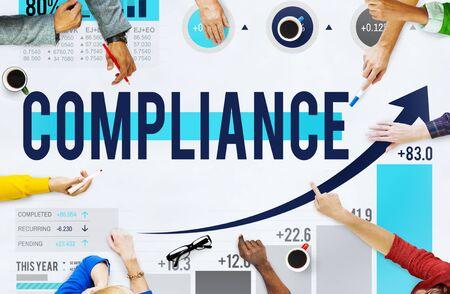 regulation: Compliance Rules Law Follow Regulation Concept