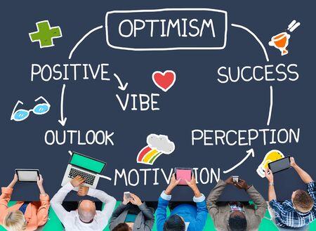 percepci�n: Optimismo positivo de Outlook Vibe Percepci�n Vision Concept