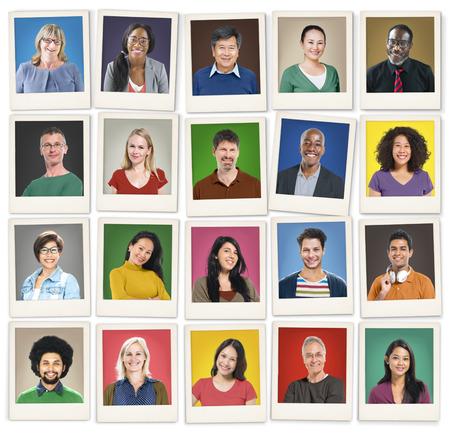 portrait: People Diversity Faces Human Face Portrait Community Concept Stock Photo