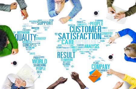 고객 만족도 신뢰성 서비스 품질의 개념 스톡 콘텐츠
