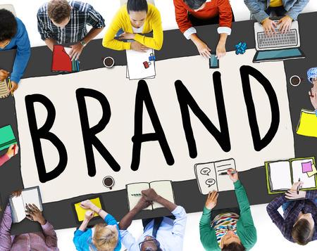 trademark: Branding Trademark Marketing Name Concept Stock Photo