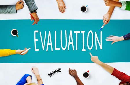 Evaluation Consideration Analysis Criticize Analytic Concept Archivio Fotografico