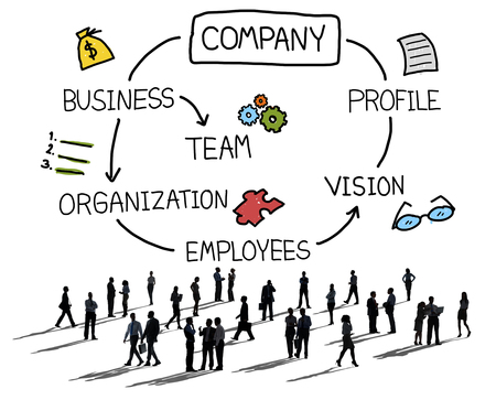 employee: Company Organization Employees Group Corporate Concept