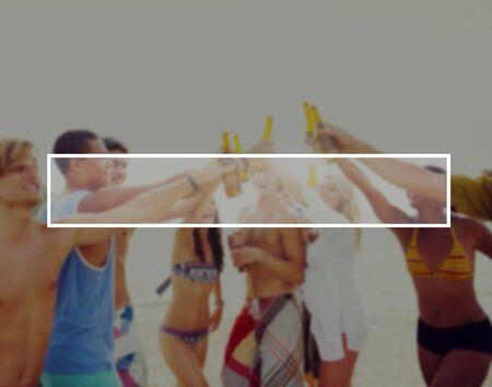 thailand beach: Summer Togetherness Friendship Vacation Bonding Concept