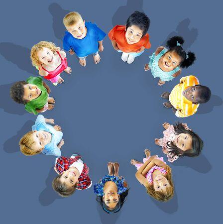 friendship circle: Multiethnic Children Smiling Happiness Friendship Concept