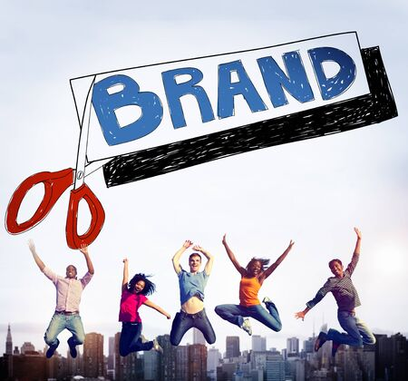 african business: Brand Advertising Commerce Copyright Marketing Concept Stock Photo