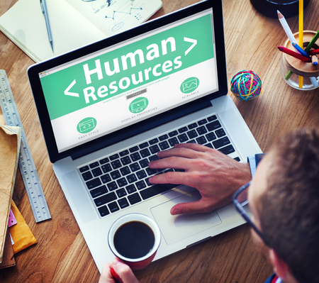 Internet Online Human Resources  Office Working Concept 스톡 콘텐츠