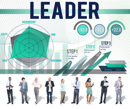 Business people with leadership concept