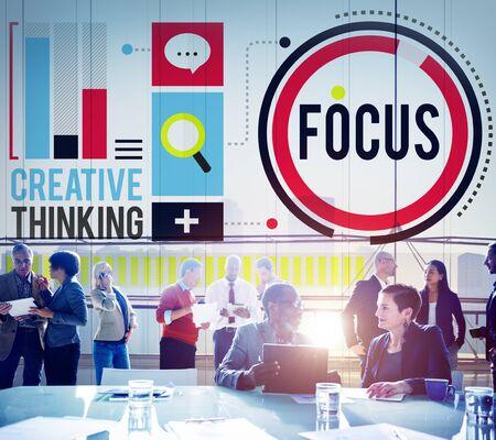 distinctness: Focus Concentrate Definition Target Point Concept