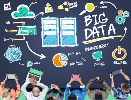 database management: Big Data Storage Online Technology Database Concept Stock Photo