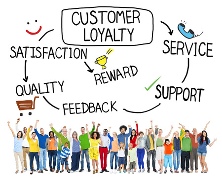 Customer Loyalty Satisfaction Support Strategy Concept Banque d'images