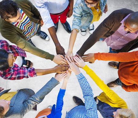 circulo de personas: Equipo Trabajo en equipo Corporativa Concepto Ayuda Colaboración