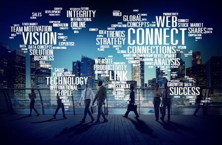 Připojení k internetu Sociální Media Link sítě Concept Reklamní fotografie