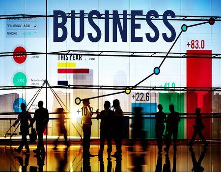 building silhouette: Business Startup Corporate Enterprise Company Concept Stock Photo