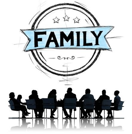 group communication: Family Relationship Parenting Generation Concept