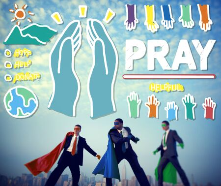 sacred trinity: Pray Praying Hope Help Spirituality Religion Concept