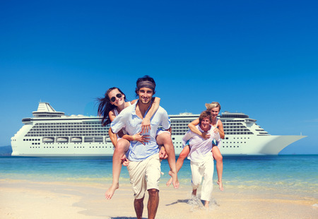 cruise: Summer Couple Island Beach Cruise Ship Concept