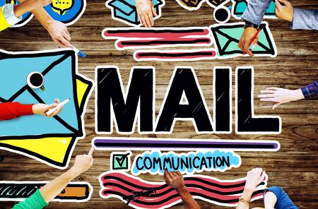 mail man: Mail Message Inbox Letter Communication Concept