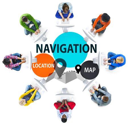 travel guide: Navigation Direction Destination Travel Guide concept