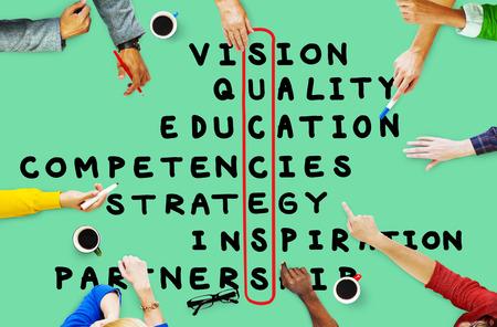 Succes Doel Target Victory-strategie Vision Concept Stockfoto