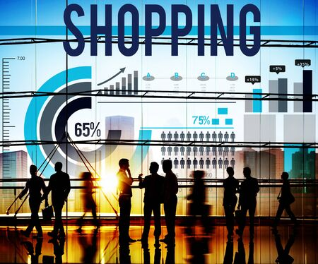 retail shopping: Shopping Purchase Retail Sale Buying Concept Stock Photo