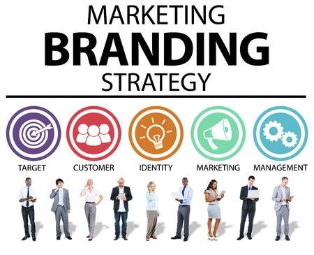 Marca Branding Marketing Commerciale Nome Concetto Archivio Fotografico - 44637607