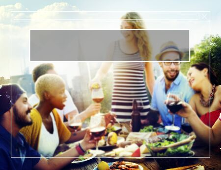 dining out: Copy Space Frame Summer Vacation Holiday Concept Stock Photo