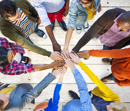 casual: Team Corporate Teamwork Collaboration Assistance Concept Stock Photo