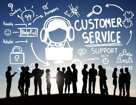 agent de sécurité: Service à la clientèle Assistance Service Aide Guide Concept Banque d'images