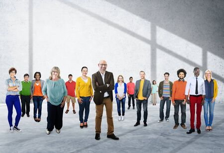 ethnic people: People Community Togetherness Corporate Team Concept Stock Photo