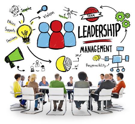 gerente: Diversidad Gestión Liderazgo Comunicación Reunión del Equipo Concepto Foto de archivo