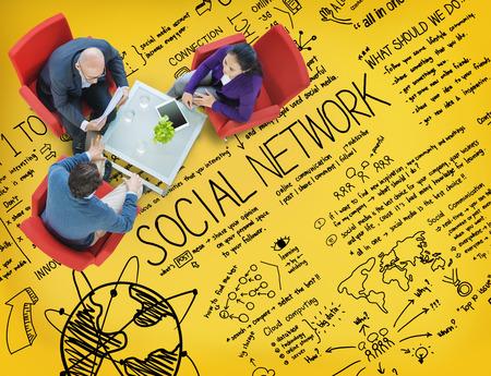 Réseau Social Media Technology Concept Conseil Banque d'images - 44640707
