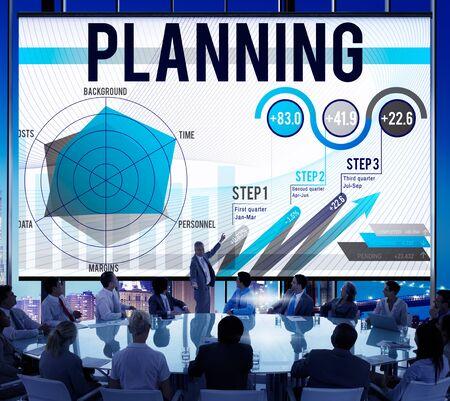 planeaci�n estrategica: An�lisis de Datos Planificaci�n de Negocios Estrategia Concepto Foto de archivo