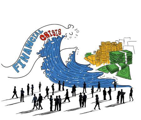 financial crisis: Financial Crisis Investment Money Economy Concept Stock Photo