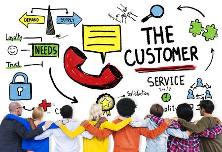 顧客サービス ターゲット市場サポートの支援コンセプト 写真素材 - 44641045
