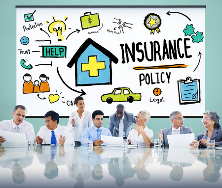life insurance: Insurance Policy Help Legal Care Trust Protection Protection Concept Stock Photo