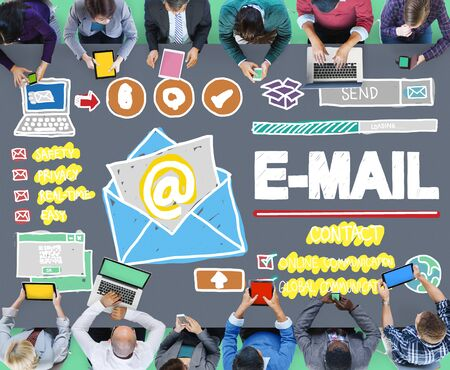 email: Email Correspondance Online Messaging Technologgy Concept