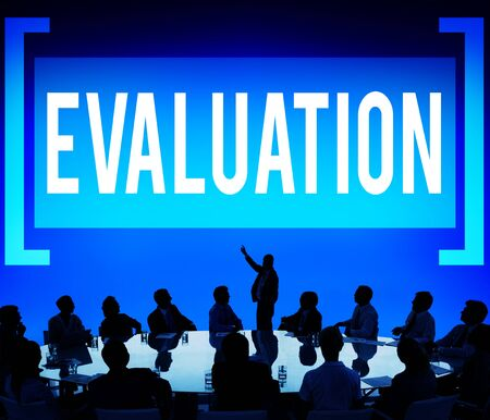 criticize: Evaluation Consideration Analysis Criticize Analytic Concept Stock Photo