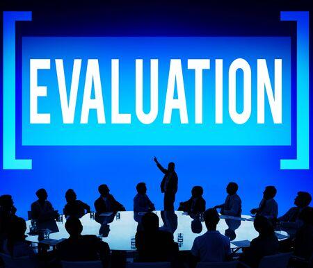 criticize: Evaluation Consideration Analysis Criticize Analytic Concept Stock Photo