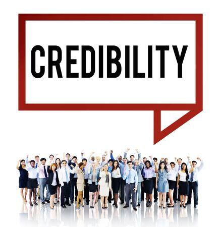 credibility: Credibility Partnership Determination Inspiration Concept