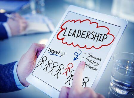 liderazgo empresarial: Plomo Jefe Liderazgo Sociedad de las personas Concepto Foto de archivo