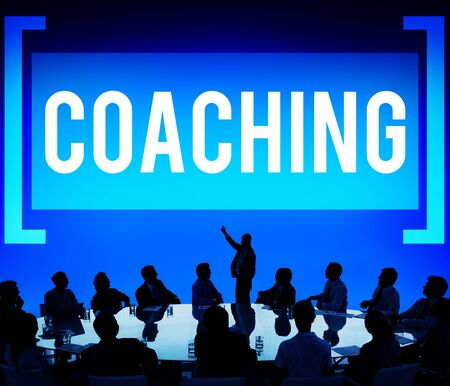 coaching: Coach Coaching Skills Teach Teaching Training Concept Stock Photo