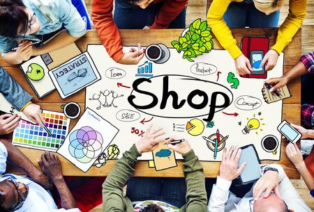 consumer: Shop Shopping Commercial Consumer Concept