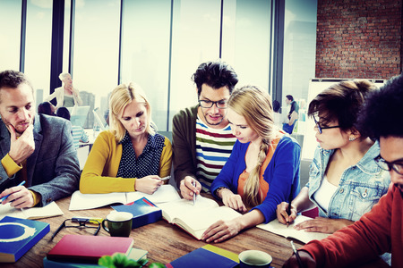 teaching adult: Casual People Brainstorming Planning Start Up Concept Stock Photo