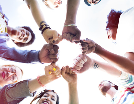 amistad: Amigos Amistad topetón del puño Unión Concept