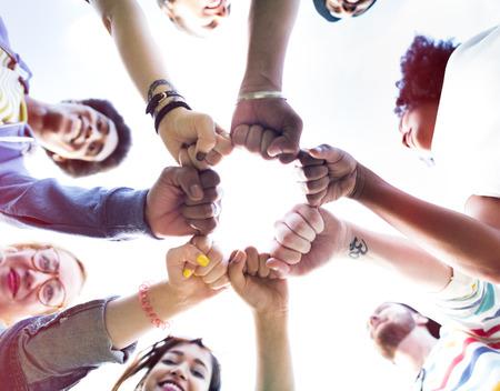 friendship: Amis Amitié Fist Bump Ensemble Concept
