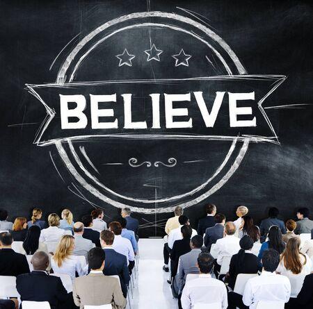 believe: Believe Hope Inspiration Religion Worship Concept Stock Photo