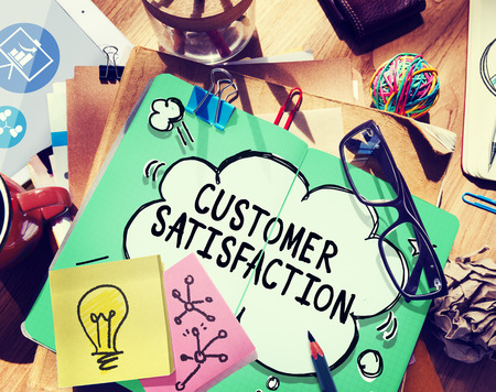 customer satisfaction: Customer Satisfaction Service Support Assistance Concept